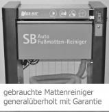 Wash-Mat 520 M standard : Der voll automatischer Auto-Fußmatten-Reinigungsgerät