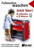 Mattenreinigung, deutsch