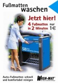 Automatten reinigen, deutsch