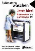 Plakat Autofußmatten Reinigung, Deutschland
