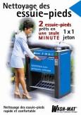 Nettoyage des essiue-pieds poster, französich